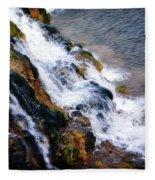 Water And Stone Fleece Blanket