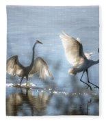 Water Ballet  Fleece Blanket