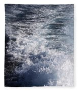 Water Behind A Ship Fleece Blanket