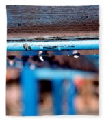 Water Blue  Fleece Blanket