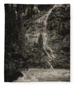 Water Cascade Along The Animas River Colorado Dsc07657 Fleece Blanket