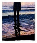 Water Color Echos Fleece Blanket
