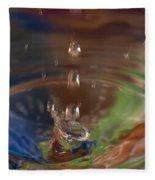 Water Drop Abstract 5 Fleece Blanket