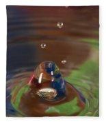 Water Drop Abstract 6 Fleece Blanket