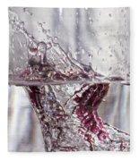 Water Drops Abstract  Fleece Blanket