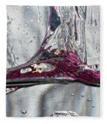 Water Drops Abstract3 Fleece Blanket