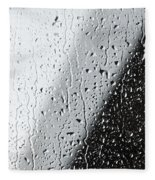 Water Drops On A Window Fleece Blanket