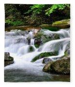 Water Fall 2 Fleece Blanket