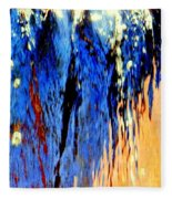Water Fountain Abstract31 Fleece Blanket