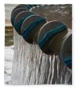 Water Fountain Natural Art In Progress Fleece Blanket