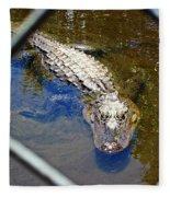 Water Hole Gator Fleece Blanket