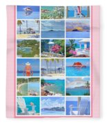 Water Island Poster Fleece Blanket