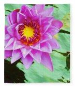 Water Lilies 003 Fleece Blanket