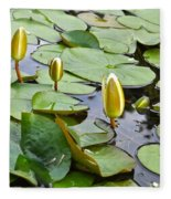 Water Lilies Aligned Fleece Blanket