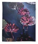 Water Lilies At Sunset Fleece Blanket