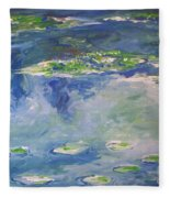 Water Lilies Giverny Fleece Blanket