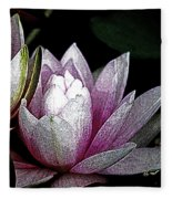 Water Lilies I Fleece Blanket