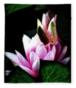 Water Lilies IIi Fleece Blanket