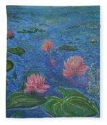 Water Lilies Lounge 2 Fleece Blanket