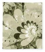 Water Lilies Spirals Fleece Blanket