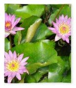 Water Lilies 3 Fleece Blanket