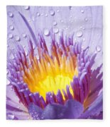 Water Lilly Fleece Blanket