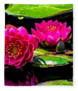 Water Lily 2014-12 Fleece Blanket