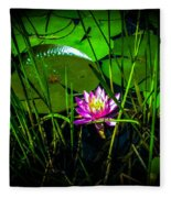 Water Lily 3 Fleece Blanket