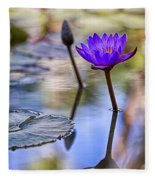 Water Lily 6 Fleece Blanket