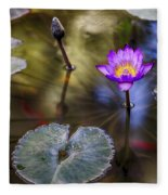 Water Lily 7 Fleece Blanket