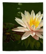 Water Lily And Pad Fleece Blanket