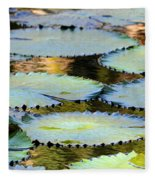 Water Lily Pads In The Morning Light Fleece Blanket