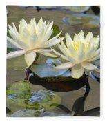 Water Lily Pair Fleece Blanket