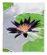 Water Lily - Purple Power - Photopower 1376 Fleece Blanket