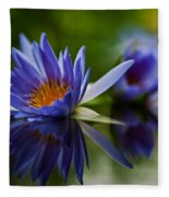 Water Lily Reflections Fleece Blanket