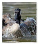 Water Logged - Canadian Goose Fleece Blanket