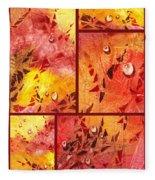 Water On Color Collage Eight Fleece Blanket