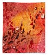 Water On Color Design Seven Fleece Blanket