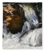 Water On The Rocks 2 Fleece Blanket