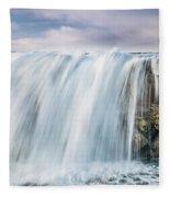 Water Over The Jetty Fleece Blanket