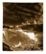 The Mighty Power Of The Falls Fleece Blanket