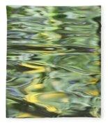 Water Reflection Green And Yellow Fleece Blanket