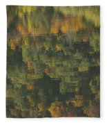 Water Reflections Abstract Autumn 2 A Fleece Blanket