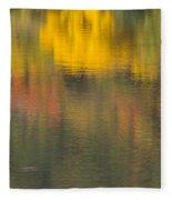 Water Reflections Abstract Autumn 2 C Fleece Blanket