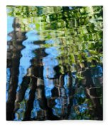 Water Reflections 1 Fleece Blanket