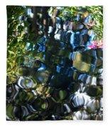 Water Reflections 9 Fleece Blanket