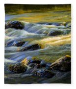 Beautiful Water Reflections On The Flowing Thornapple River Fleece Blanket