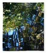 Water Reflections 7 Fleece Blanket