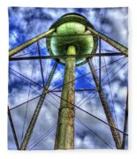 Mary Leila Cotton Mill Water Tower Art  Fleece Blanket