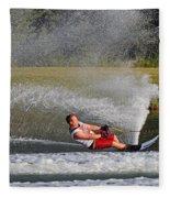 Water Skiing 10 Fleece Blanket